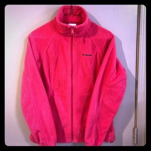 Columbia Fleece Hot Raspberry Pink - Small -EUC